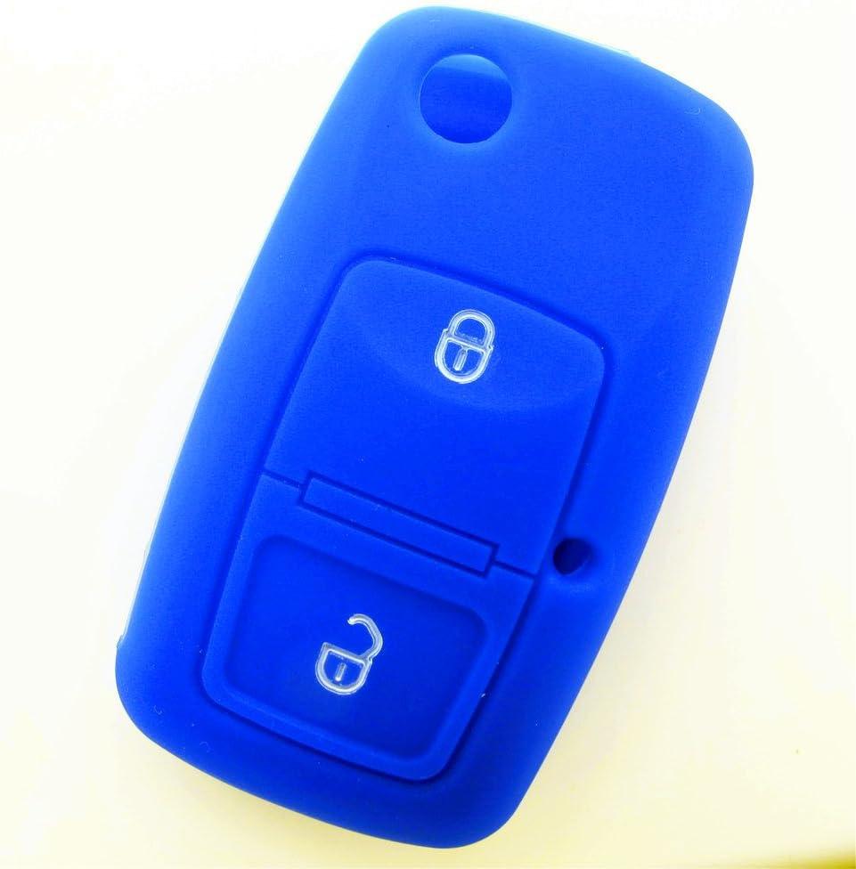 Hwota 3 Buttons Silicone Car Key Case Cover Remote Fob Key for Toyota Land Cruiser//Prado 2010 Pink