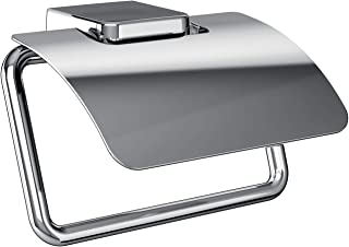 Emco Trend 20000100 Toilet Roll Holder with Lid / Roll Holder / Paper Holder / Wall Mounting Chrome