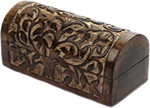 nxtbuy Drachentruhe Schatzkiste mit dekorativer Holzschnitzerei Gr/ö/ße:Set Handarbeit aus Echtholz Schatztruhe aus Echtholz