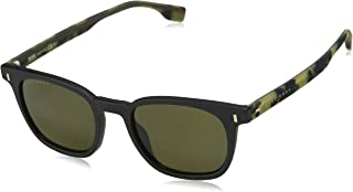 نظارة شمسية مستطيلة من هوغو بوس  للجنسين - عدسات بلون اخضر