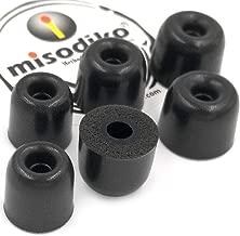 misodiko M410S Memory Foam Earbuds Tips for RHA MA390 MA600 MA650 MA750 T10i T20i/ Sennheiser Momentum in Ear, CX 3.00 5.00i/ Beoplay H3 H5 E4 E6/ Sony- Replacement Earphones Eartips (3-Pairs, S/M/L)