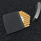 Caso de Cigarrillos, el Acero de plástico + Inoxidable portátil Ultra-Delgada...