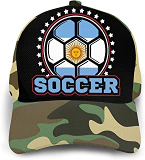 Y94OIW@MAO Argentina Flag Soccer Player Trucker Hat for Men and Women Cotton Sports Cap