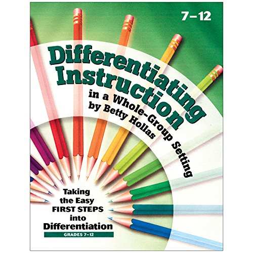 Essential Learning Products Grades 7-12 Differentiating Instruction in a Whole-Group Setting Book Aid