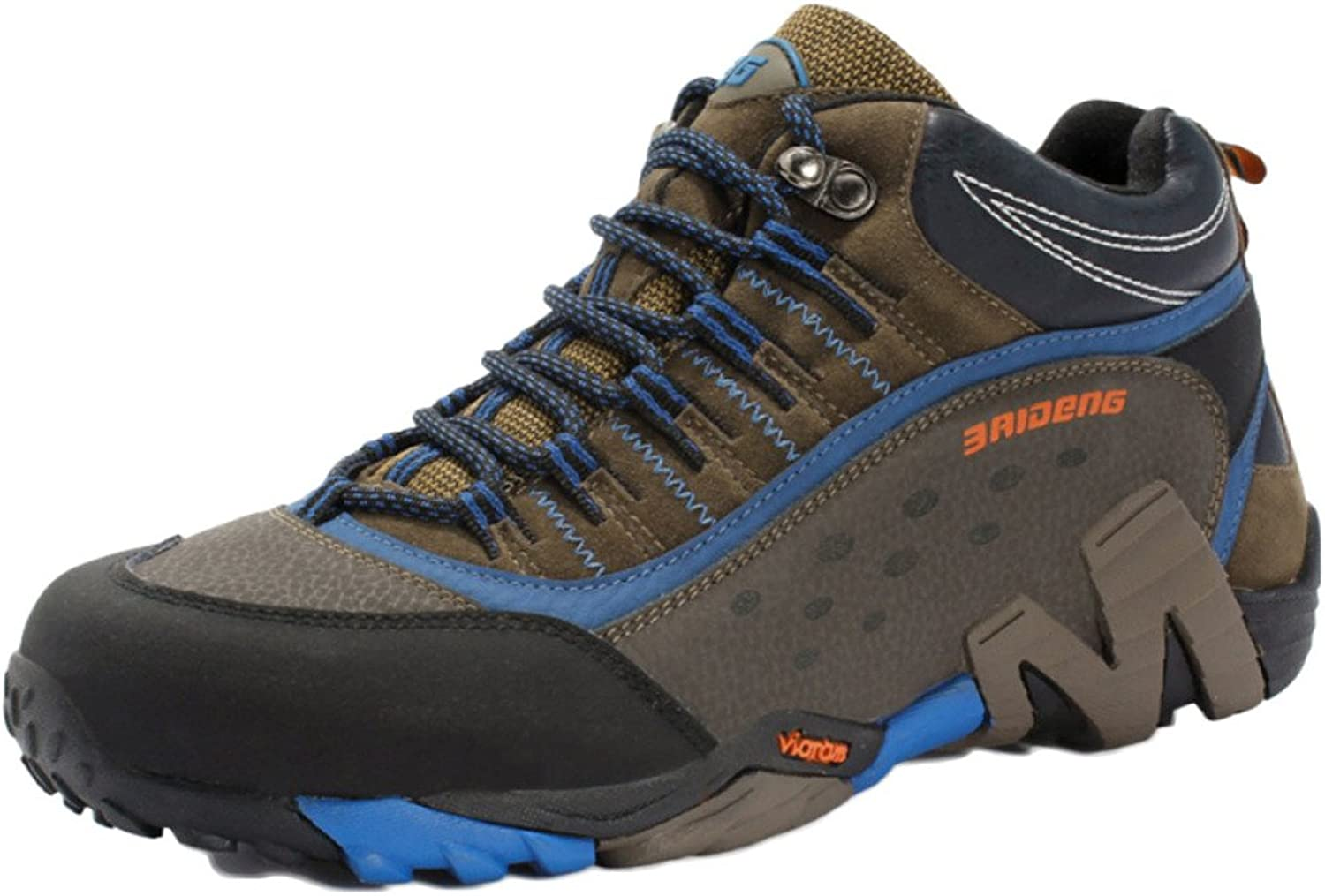 Hiking shoes for Men Waterproof Lightweight High Rise Walking shoes Large Size Outdoor Leather Warm Wear