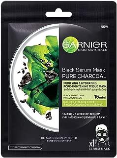 Garnier Skin Naturals, Charcoal, Face Serum Sheet Mask (Black), 28g