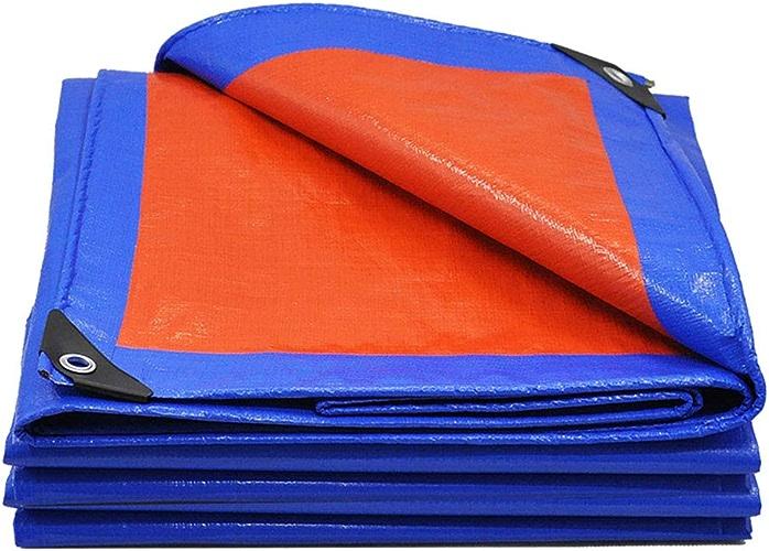 Jaxonn Home Bache imperméable et résistante – Bache de bache Universelle Bleu Orange – Bache de qualité supérieure fabriquée en bache de 180 g m2 – Tous Les Bords Cousus avec Double matériau, 10M12M