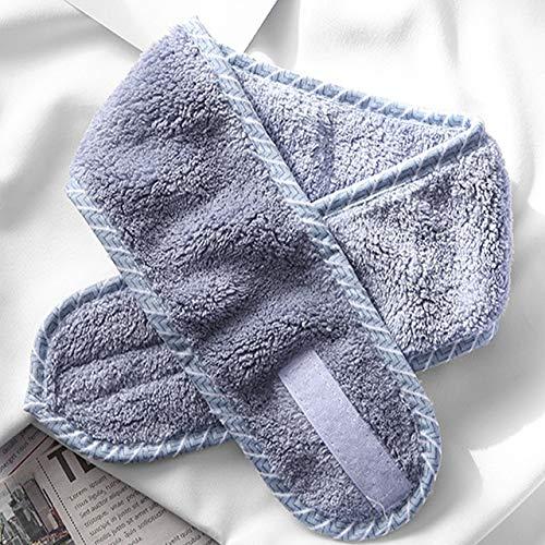 Tgjdy 6 uds Accesorios para el Cabello de Toalla Suave Diademas para niñas para Lavado de Cara Maquillaje de baño Banda para el Cabello para Mujer Diadema Facial Ajustable para SPA