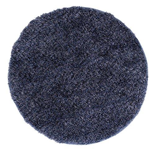 Barbara Becker Hochflorteppich Emotion in rund, hochwertiger Shaggyteppich, Farbe:Blau, Größe:Ø 100 cm