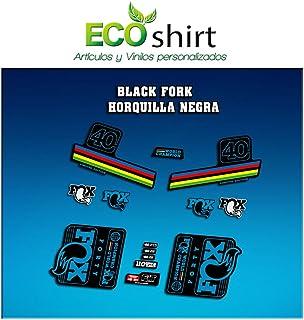 Ecoshirt E6-9ZDQ-647F Pegatinas Stickers Fork Fox 40 WC World Champion 2017 Am143 Aufkleber Decals Autocollants Adesivi, Azul