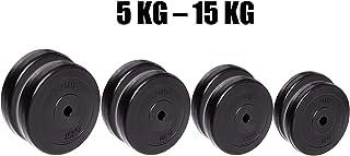 DAI QI Pesas-1 Deportes par de 30 mm Pesas-Back Panel-2.5-15 kg por par