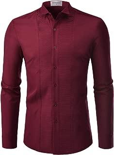 NEARKIN Mens Tuxedo Shirts Non Iron Wrinkle Free Spandex Comfy Dress Shirt