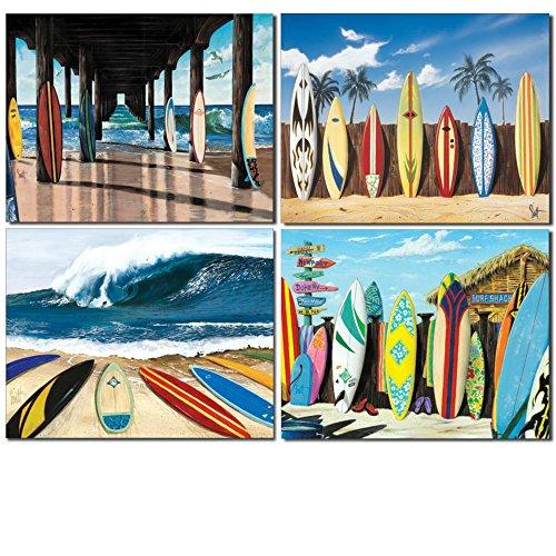 DE Sign Surfbrett Blechschild Bundle–Westmoreland Pier Group, Westmoreland Starting Five, Sind Westmoreland Warten an Surfen und Westmoreland Surf Shack