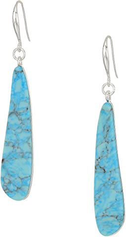Robert Lee Morris - Turquoise Stick Drop Earrings