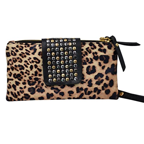 8b090009bd Millya Women Leopard Evening Party Clutch Bag Rivet Punk PU Leather Purse  Wallet