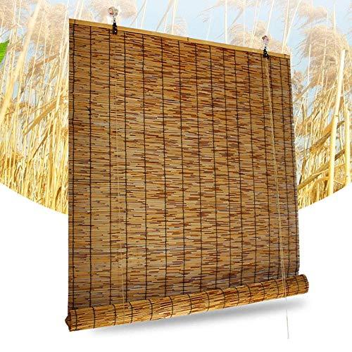 F-XW Persiana Enrollables a Medida, Estor de Bambú, para Ventanas y Puertas, Anti-Polilla a Prueba de Humedad, 80 x 200/90 x 250/100 x 300cm, Marrón