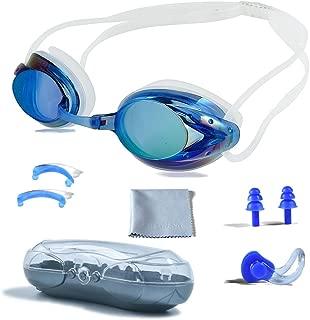 PHELRENA Swimming Goggles, Professional Swim Goggles Anti Fog UV Protection No Leaking..