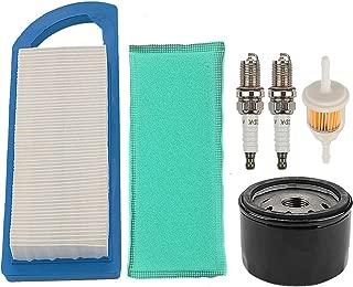 Mckin GY20573 Air Filter + AM125424 AM116304 Oil Fuel Filter fits John Deere LA115 LA105 LA110 LA100 L100 L105 L107 L108 115 105 108 Z225 Lawn Tractor