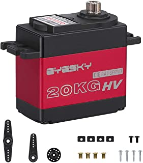 EYESKY 20KG Servo Motor High Torque Full Aluminum Gear Iron Core Motor Waterproof for RC Model DIY Control Angle 180°