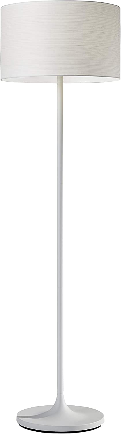 Adesso 6237-02 Oslo Floor Lamp – Corrosion Resistant, Scratch Proof, White Matte Finish Lighting Equipment with Metal Body. Tools & Home Improvement
