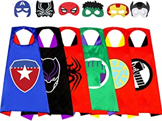 Superhero Children's Cloak Christmas Costume Cosplay Party Supplies Boy and Girl Toy Gifts3-12 Years