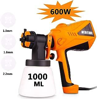 Paint Sprayer Voluker 600 Watt High Power HVLP Home Electric Spray Gun Three Spray Patterns 3 Nozzle Sizes 1000 ml Detachable Container