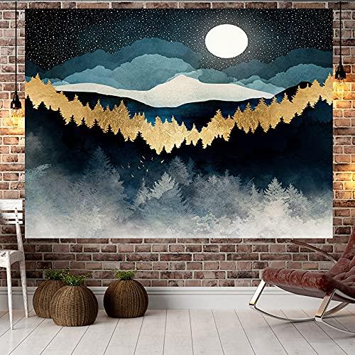 NHhuai Tapiz,para Colgar en la Pared,Hecho a Mano,en algodón Puro, Colgante de Pared decoración Tela Puesta de Sol colinas