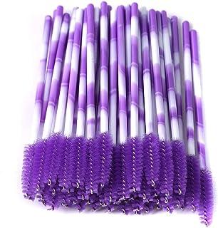331d9d1c145 LJSLYJ 50 Pcs Disposable Eyelash Brushes Women Mini Mascara Wands  Applicator Makeup Beauty Tool,Violet