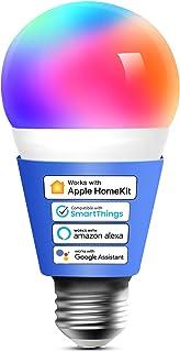 Meross Smart wifi-gloeilamp, werkt met Apple HomeKit, wifi-lamp, led, meerkleurige dimbare gloeilamp, compatibel met Siri,...