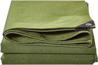 Tarpaulin Waterproof Heavy Duty Tarp Sheet, Front Canvas + Back Waterproof Rubberized Layer, 100% Waterproof and UV Protected