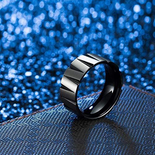 GMZDD Domineering Heren Ringen 9mm Bruiloft Band Pure Carbide Titanium Engagement Ring Voor Mannen Geborsteld Mate Een Unieke Ring Kan brengen U Veel Geluk