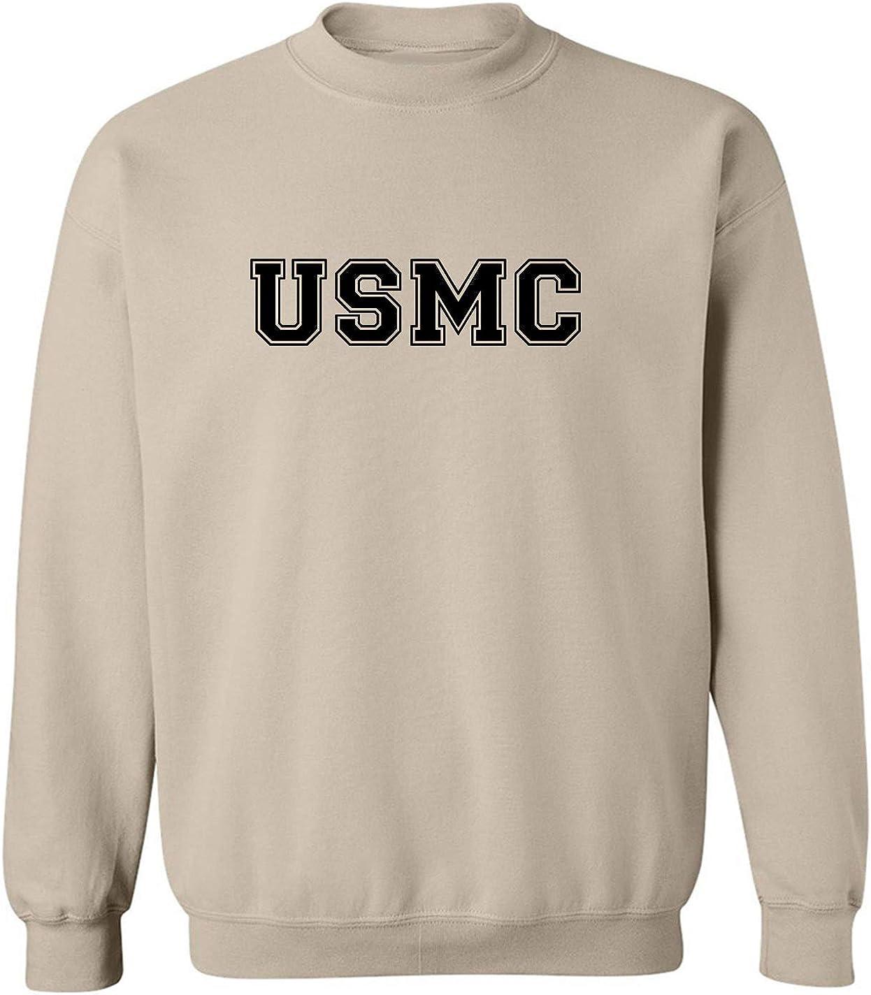 USMC Athletic Marines Crewneck OFFicial store in Sweatshirt Sand Bargain