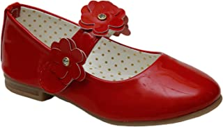D'chica Fancy Synthetic Flower Strap Mary Janes for Girls