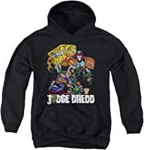 Trevco Judge Dredd Bike and Badge Unisex Youth Pull-Over Hoodie for Boys and Girls