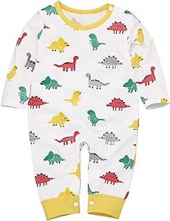 Camidy Infant Baby Boy Long Sleeve Cotton Lovely Dinosaur Jumpsuit Bodysuit Romper