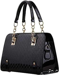 Ladies Patent Leather Unique Purse & Handbags For Women Shoulder Bag Womens Satchels Pocketbooks Top Handle Bag With Wallet
