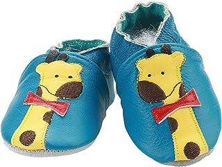 Chausson Bébé Antidérapantes Chaussure Cuir Souple Enfant Chaussette Fille Garçon de Naissance à 24 Mois avec Bande élasti...