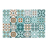 LI Q P R 24 pegatinas autoadhesivas de PVC para pared DIY azulejos baño cocina papel pintado desprendible calcomanía murales decoración del hogar 10 x 10 cm