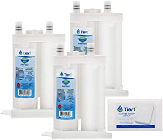 Tier1 Replacement for Frigidaire WF2CB PureSource2 Refrigerator Water Filter (3-Pack) and Magic Erasing Sponge (12-Pack) Combo