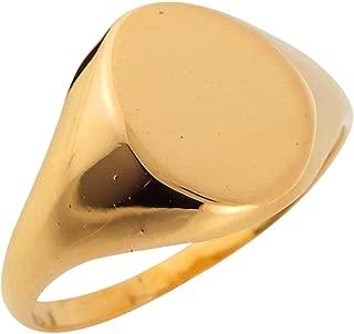 Jewelry Liquidation 14k Yellow Gold Simple Signet Ladies Ring