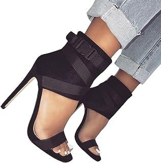 6b2a74a21 YJYdada Fashion Women Sandals Summer Shoes Thick Buckle Party Sexy Bandage  Highheel