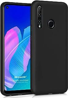 Microsonic Matte Silicone Huawei P40 Lite E Kılıf Siyah