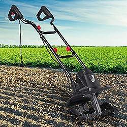 BRAST elektrische Motorhacke 1500 Watt 45cm Arbeitsbreite 22cm Arbeitstiefe 24 Hackmesser Ackerfräse Kultivator Gartenfräse