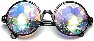 QPRER - Gafas De Sol,Negro Redondo Cosplay Cristal Verano Unisex Calle Gafas Niñas Fiesta En La Playa Alpinismo Viento Y Polvo Lente Hombres Viaje Sin Conductor Gafas Día De San Valentín Regalo