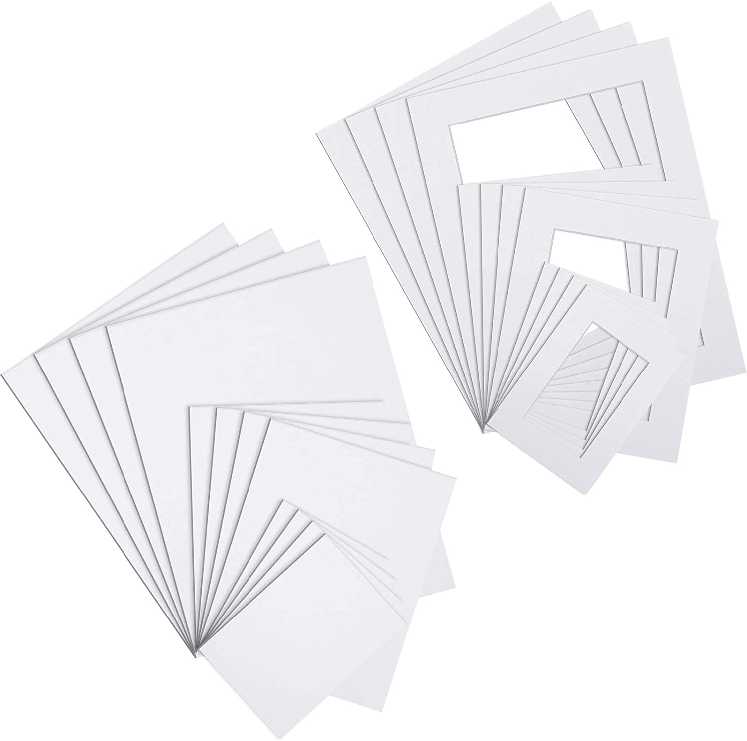 Online limited Mail order cheap product 24 Pieces Packaging Photo Set Includes Pre-Cut 12 Picture White