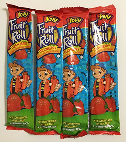 075oz Jovy Fruit Roll Snack Strawberry 16 Single Packets Per Order