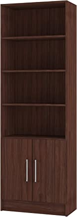 Multi Use Side Shelves With Cabinet, Brown - BL 03-164