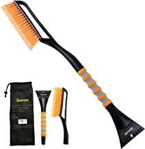 "AstroAI 27""Snow Brush and Detachable Ice Scraper with Ergonomic Foam Grip for Cars, Trucks, SUVs (Heavy Duty ABS, PVC Brush)"