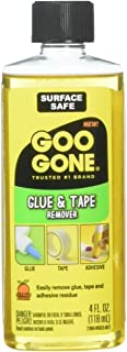 Goo Goo Glue and Tape Adhesive Remover - 4 Ounce - Removes Adhesives Stickers Crayon Glue Tape Gum Window Decals Glitter Labels