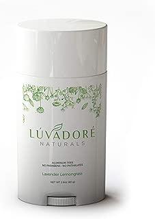 All Natural Deodorant, Organic, Aluminum Free, Lavender/Lemongrass, Non-Toxic, Paraben Free, Gluten Free & Cruelty Free | 2.8 Oz | Made In USA